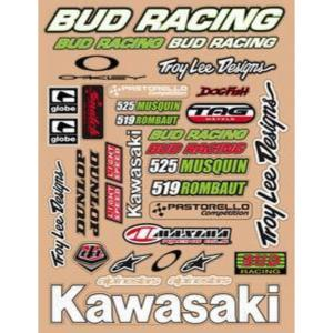Planche stickers ( BUD RACING KAWA)