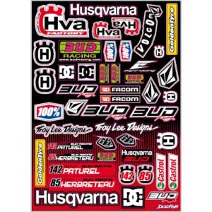 Planche stickers ( BUD RACING team HVA 2013 )
